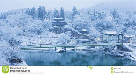 imagenes de japon en invierno paisaje del invierno de jap 243 n en la ciudad de mishima foto
