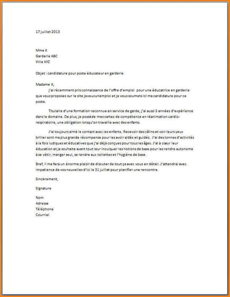 Exemple Lettre De Motivation Candidature Spontanée Educateur 11 Lettre De Motivation Educateur Format Lettre