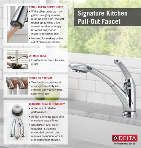 delta signature single handle pull out sprayer kitchen faucet with water efficient in chrome 470 delta single handle kitchen faucet aerator
