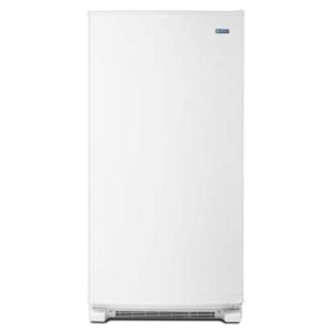 maytag 20 0 cu ft free upright freezer in white