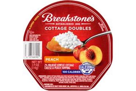 breakstone s cottage doubles peach cottage cheese 3 9 oz