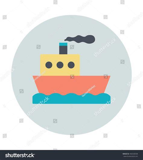 steamboat vector steamboat vector icon stock vector 456546598 shutterstock