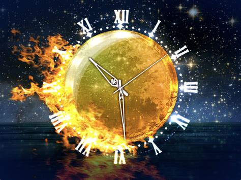 earth clock wallpaper combine humor with igneous energy and passion via the fire