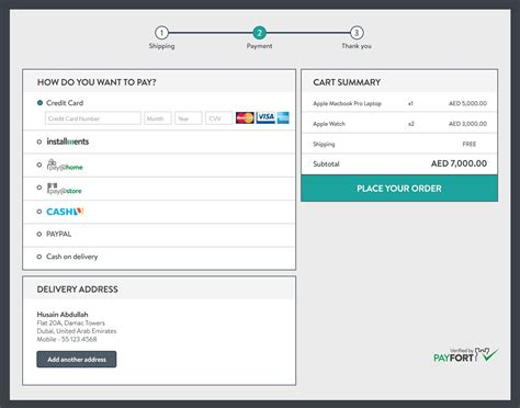 credit card payment page html template how to design the ecommerce checkout page
