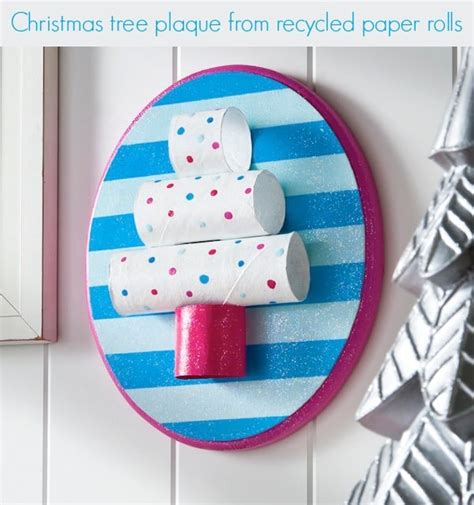 Recycled Toilet Paper Roll Crafts - easy craft paper roll tree decor mod