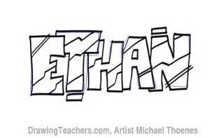drawing graffiti letters ethan