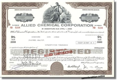 allied banks aktie allied chemical corporation letzte anleihe selten