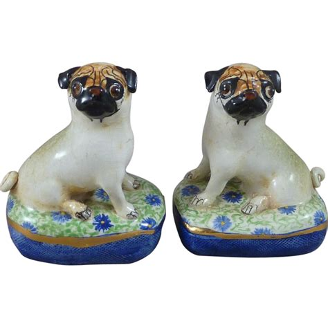 pug collectables basil matthews pug dogs pair studio pottery figurines sold on ruby