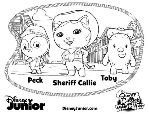 Sheriff Callie Printable Coloring Pages free coloring pages of disney sheriff callie