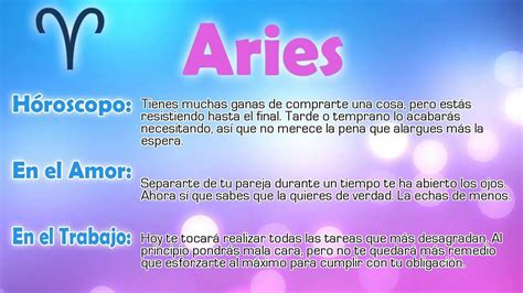 horoscopos para el 2016 hor 243 scopo del d 237 a aries 11 03 2016 youtube
