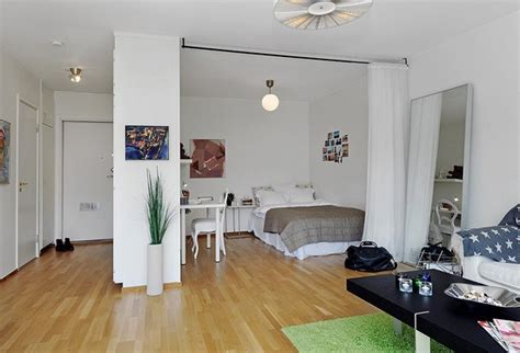 10 Small One Room Apartments Featuring A Scandinavian D 233 Cor Kitchen Dining Room And Living Room All Open