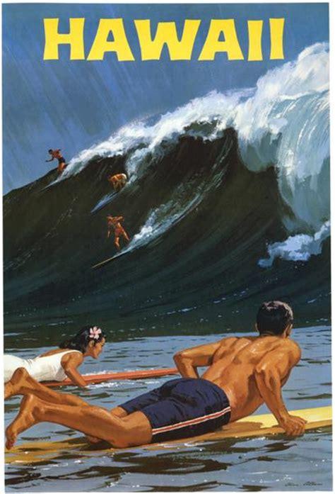 imagenes surf vintage vintage hawaii surfing poster vintagraph prints