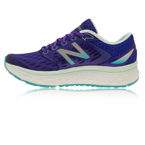 cushioned running shoes new balance m1080v6 womens purple cushioned running shoes