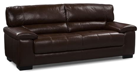 chateau d ax couch chateau d ax 100 genuine leather sofa dark brown the