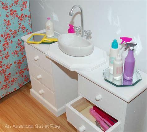how to make an american girl doll bathroom an american girl at play bathroom sink made out of