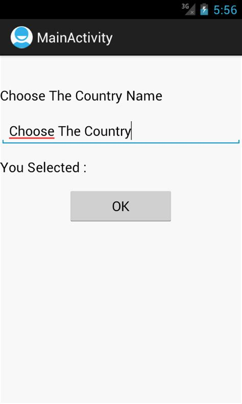surf country android xml layout android tutorials for beginners using autocomplete textview