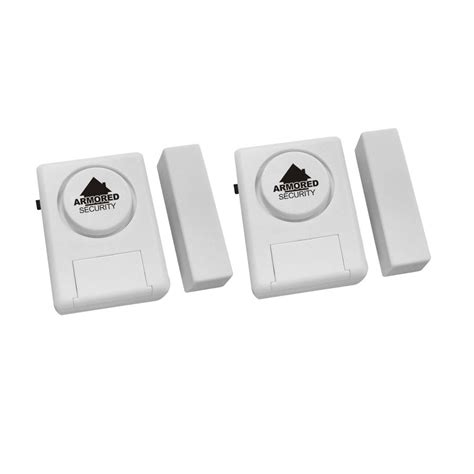shop armored home security 2 pack window and door alarms