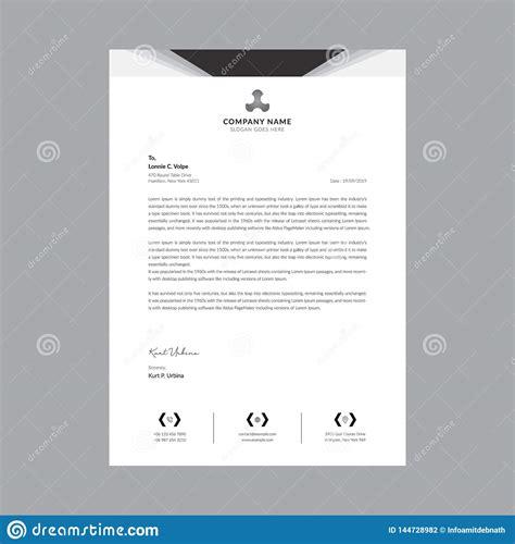 black white business letterhead templates stock vector