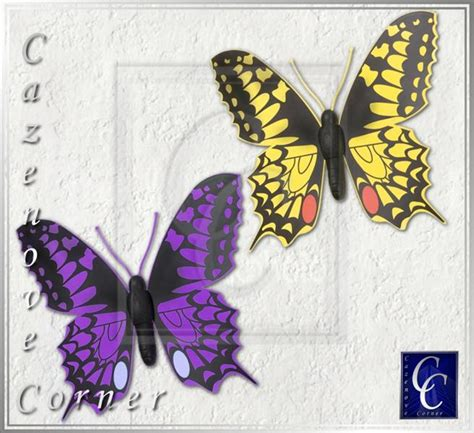 Yellow Butterfly Decorations by Outdoor Wall Decor Jumbo Butterflies