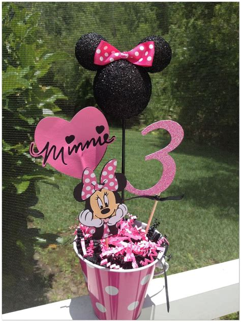 minnie mouse centerpieces minnie mouse birthday centerpiece