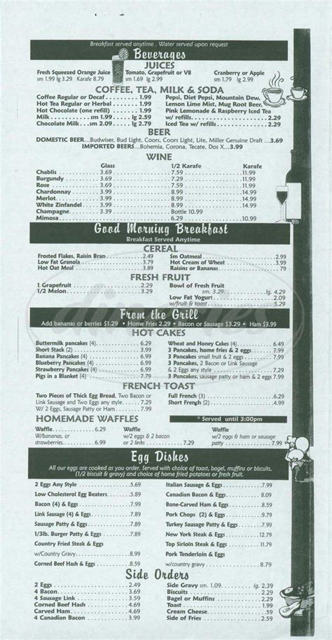 country kitchen menu with prices mollie s country kitchen menu laguna niguel dineries