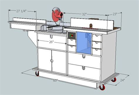 saw station plans miter saw workstation plans woodworking projects plans