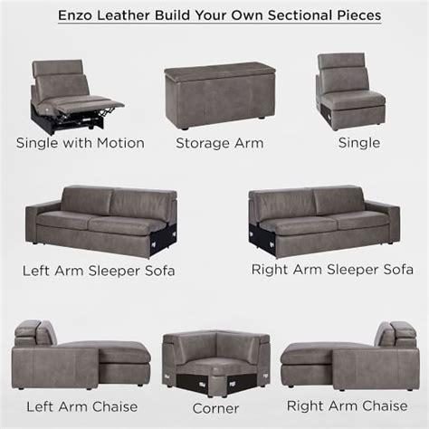 enzo sofa west elm build your own enzo leather sectional pieces west elm