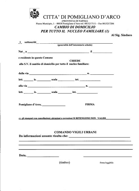 permesso di soggiorno permanente per extracomunitari modulistica comune di pomigliano d arco