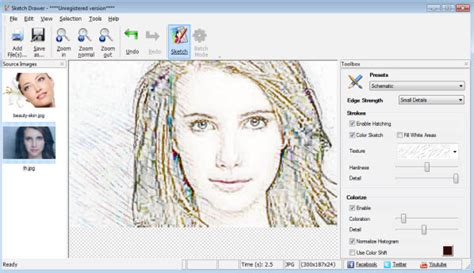 Sketch converter for mobile photo to pencil