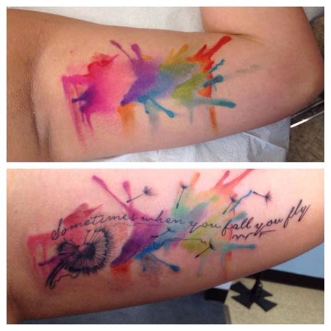 watercolor tattoos with words watercolor tats watercolour tattoos