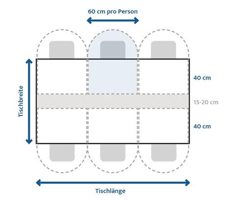 Wieviel Platz Pro Person Am Tisch by Welche Tischgr 246 Sse Ist Die Richtige Comnata Esstisch