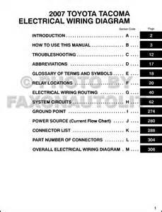 2007 toyota tacoma wiring diagram manual original