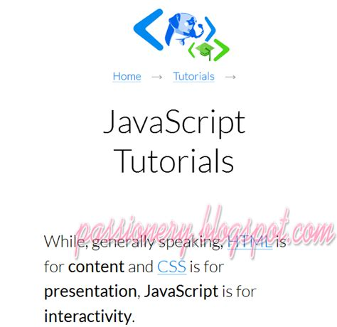 javascript tutorial html dog 10 trang web hay để học javascript passionery