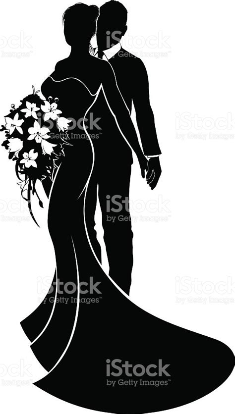 Wedding And Groom Vector by Wedding And Groom Silhouette Stock Vector
