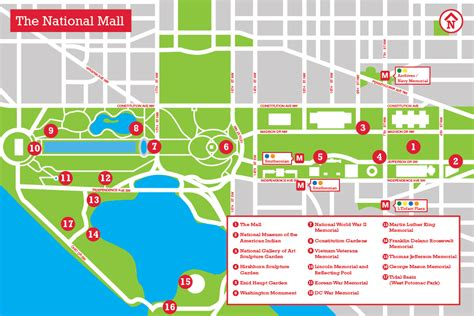 washington dc city layout map dc monuments map the national mall memorial parks dc