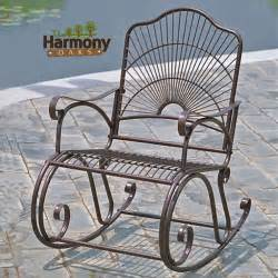 rocker wrought iron outdoor patio porch new furniture