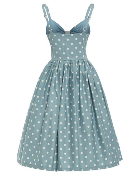 polka dot swing dress misty duck egg blue polka dot swing dress
