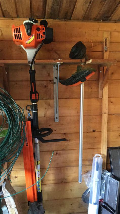 hedge trimmer storage idea  valery rigot garden