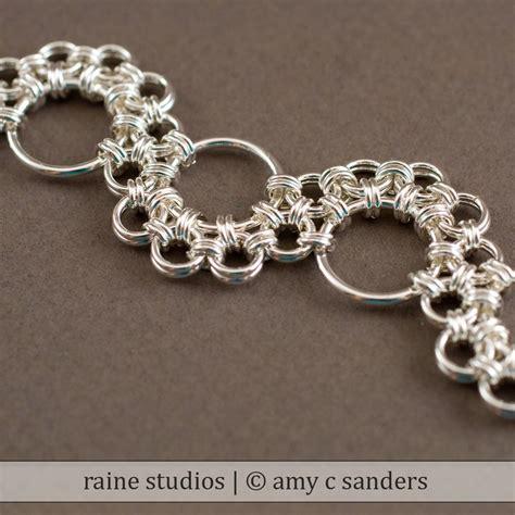 Handmade Chain Bracelets - shenandoah chainmaille bracelet handmade sterling silver 925
