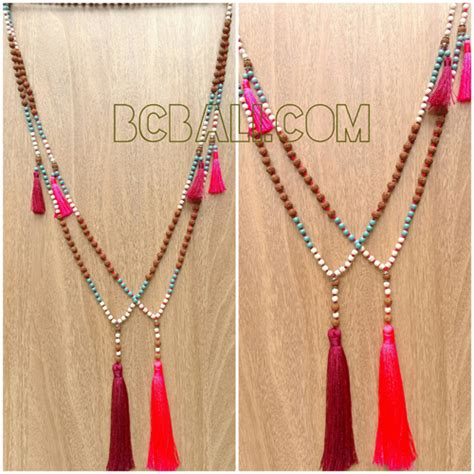 Handmade Beaded Necklace Designs - fashion necklaces tassels mala bead handmade designs