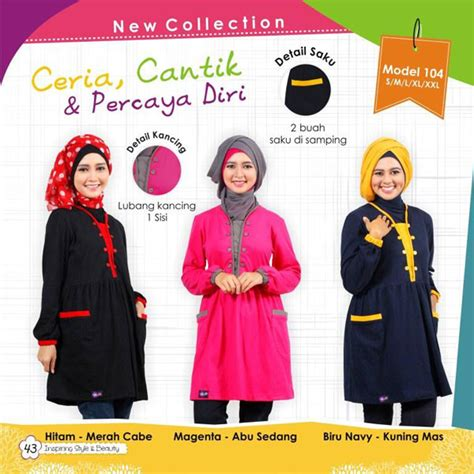 Ready Piyama Gw Anak Merah Dan Navy Promo Hrg 92 Jadi 85 mutif model 104 koleksi baju muslim gamis