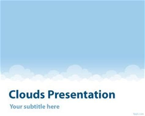 Clouds Powerpoint Template Cloud Template For Powerpoint