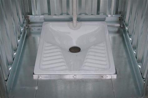 turca bagno servizi igienici prefabbricati in lamiera zincata da esterno