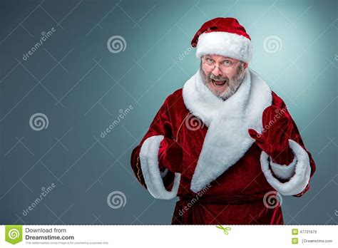 happy smiling santa claus stock photo image 47731879