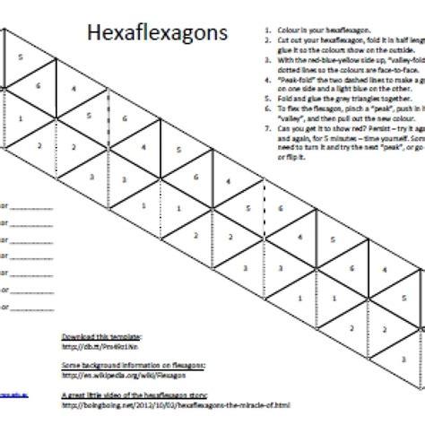 flexagon template hexa flexagon template calendar templates