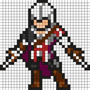 assassins creed perler bead pattern hama pinterest