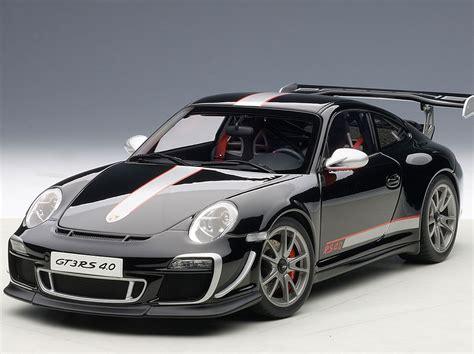 black porsche 911 gt3 porsche 911 997 gt3 rs 4 0 die cast model autoart 78146