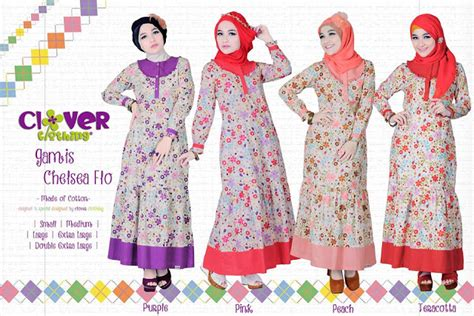Clover Clothing Gamis Pevita by Muslimina Fashion Gamis Clover Clothing