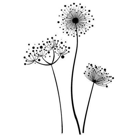 Stempel Design Vorlagen Indigoblu Stempel Stylised Flower Pusteblume Www Hansemann De