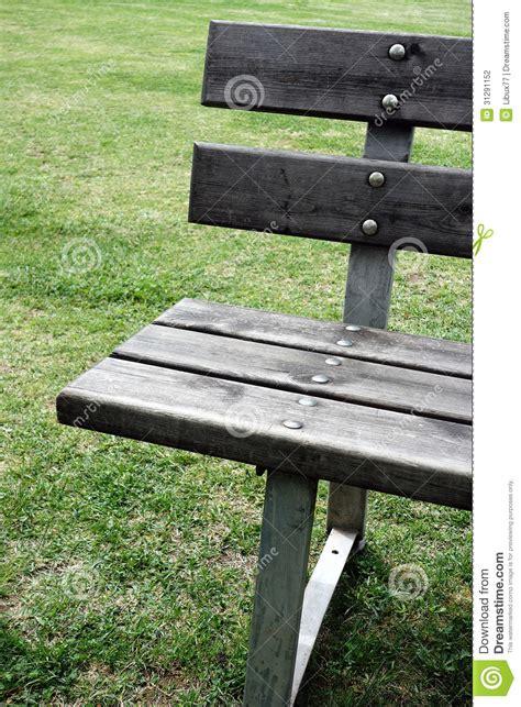Plan Rapproché De Banc En Bois De Jardin Photographie